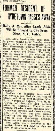 Alice Lamb Aikin Obituary