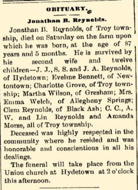 JB Reynolds Obituary