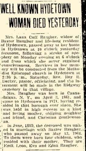 Lana Baugher Obituary