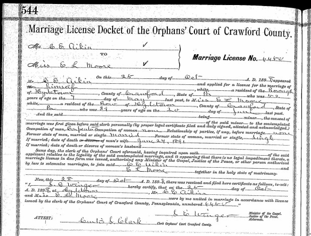 Cortes and Lola Marriage License