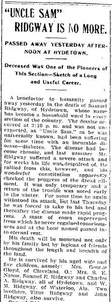 The Titusville Herald, April 10, 1901.