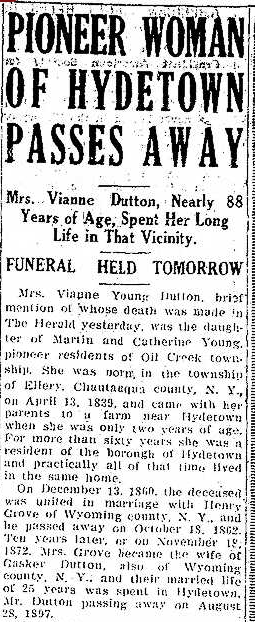 The Titusville Herald, January 28, 1927.